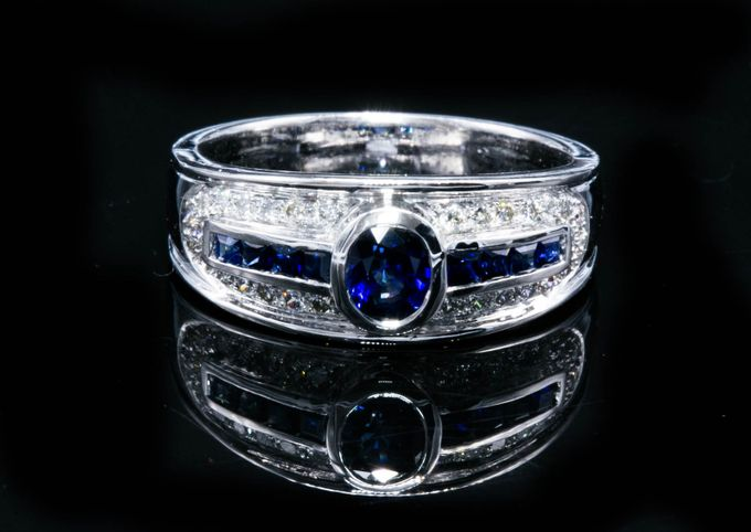 Add To Board Mens Blue Sapphire Wedding Ring By Artisan Jewellery