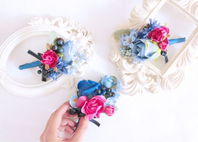 Contrast Combination of Royal Blue and Pink by Cup Of Love Design Studio - 008