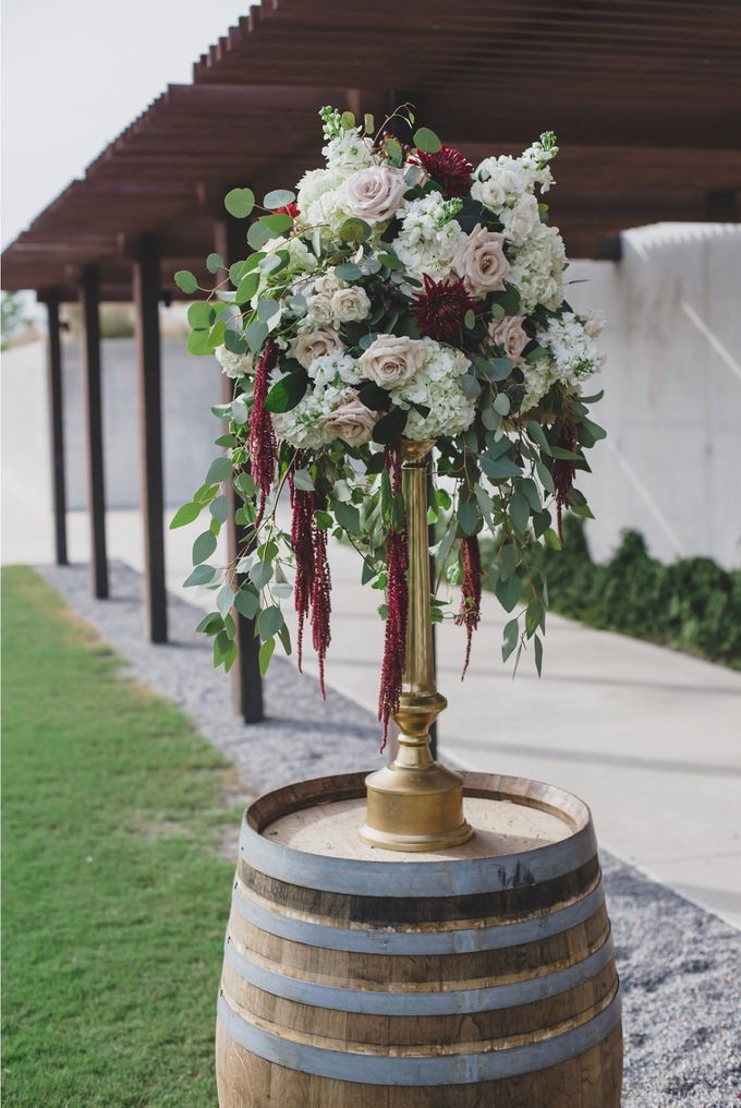 Blush and Merlot Resort wedding by Events In Bloom - 007
