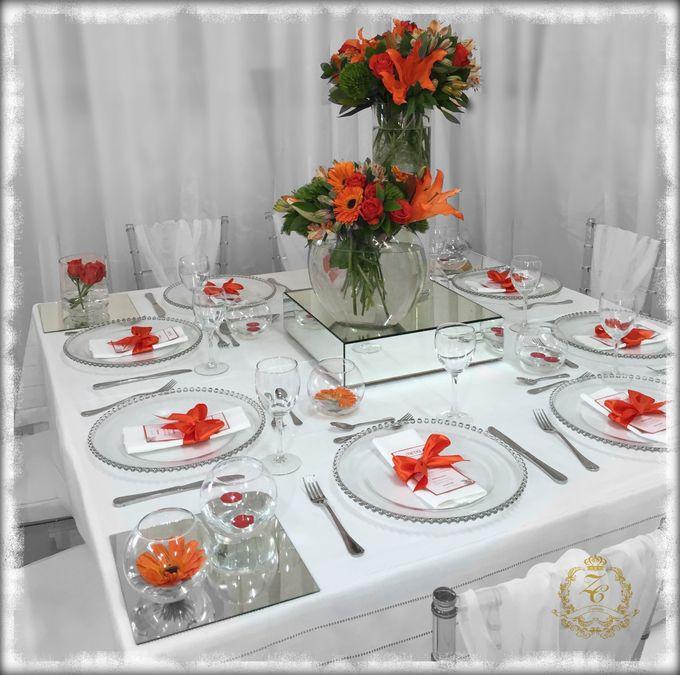 Minimalist Orange Wedding by ZC Events - 003