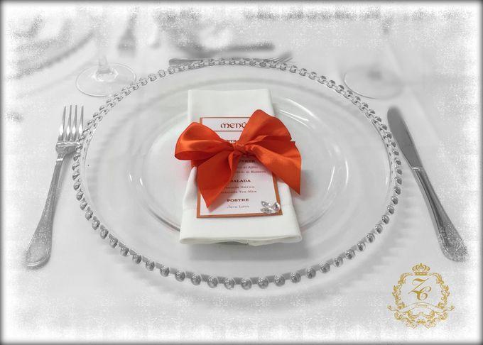 Minimalist Orange Wedding by ZC Events - 004