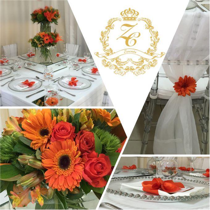 Minimalist Orange Wedding by ZC Events - 001