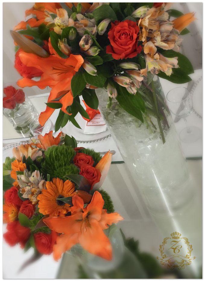 Minimalist Orange Wedding by ZC Events - 002