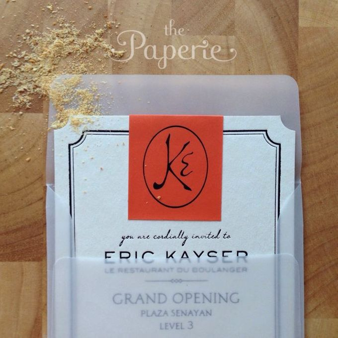Eric Kayser Grand Opening Invitation by The Paperie - 002