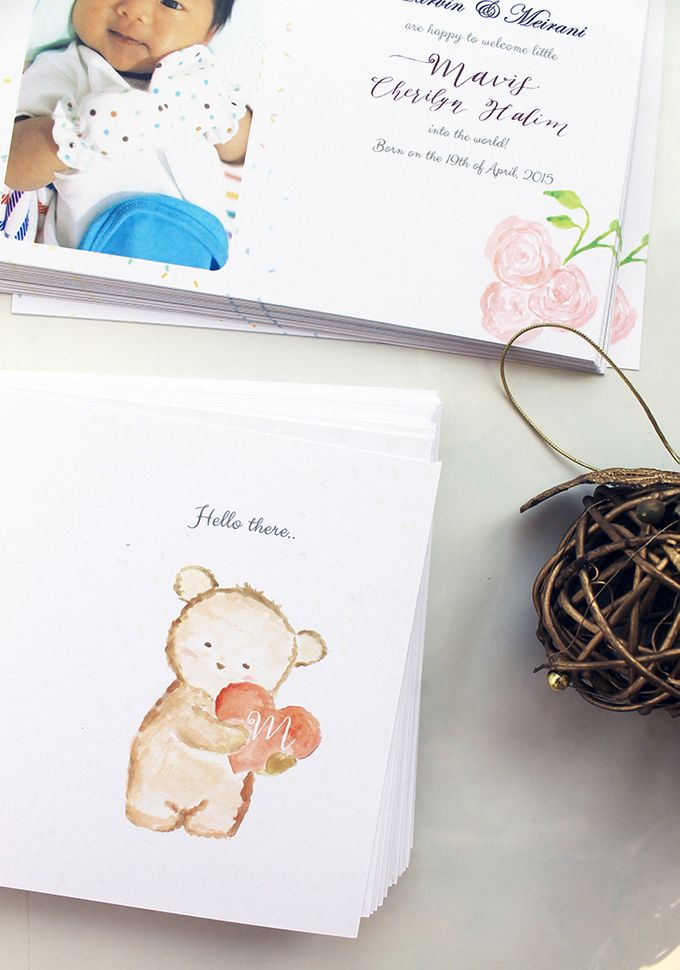 Mavis One Month Birth Announcement by Meilifluous Calligraphy & Design - 004