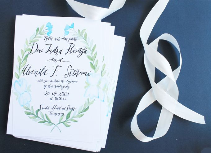 Deni & Alvenila Wedding Invitation by Meilifluous Calligraphy & Design - 004