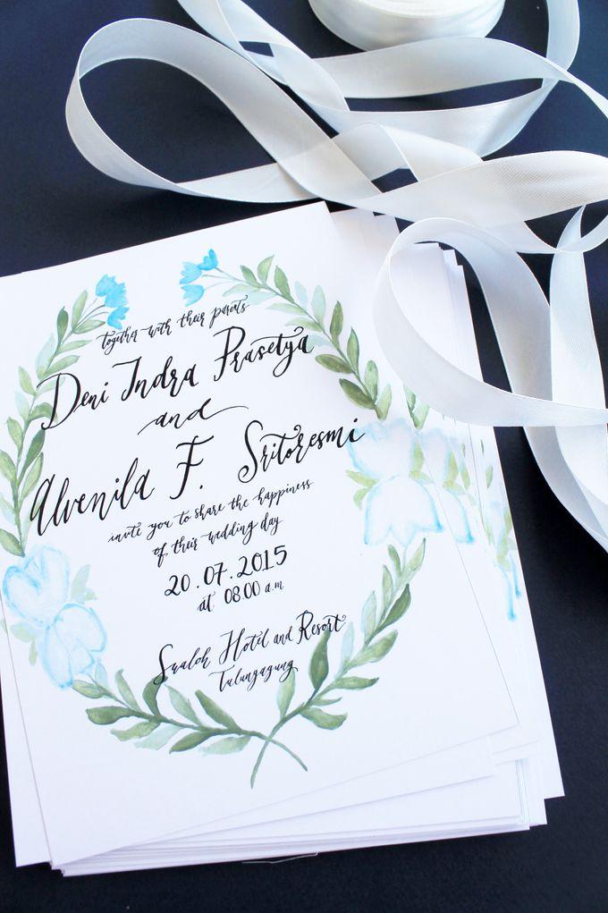 Deni & Alvenila Wedding Invitation by Meilifluous Calligraphy & Design - 005