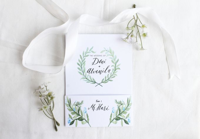 Deni & Alvenila Wedding Invitation by Meilifluous Calligraphy & Design - 006