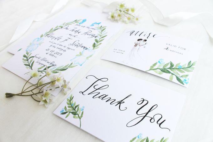 Deni & Alvenila Wedding Invitation by Meilifluous Calligraphy & Design - 008