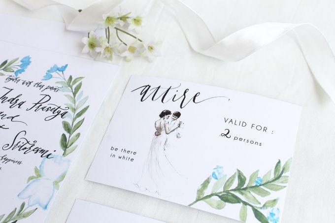 Deni & Alvenila Wedding Invitation by Meilifluous Calligraphy & Design - 009