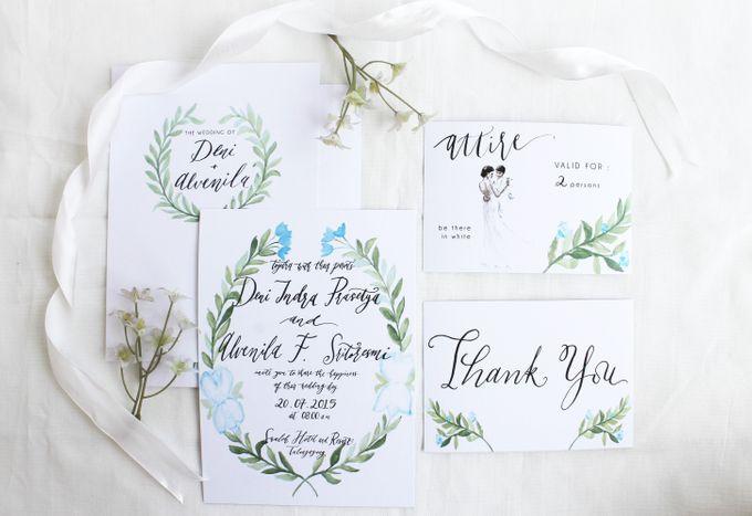 Deni & Alvenila Wedding Invitation by Meilifluous Calligraphy & Design - 001
