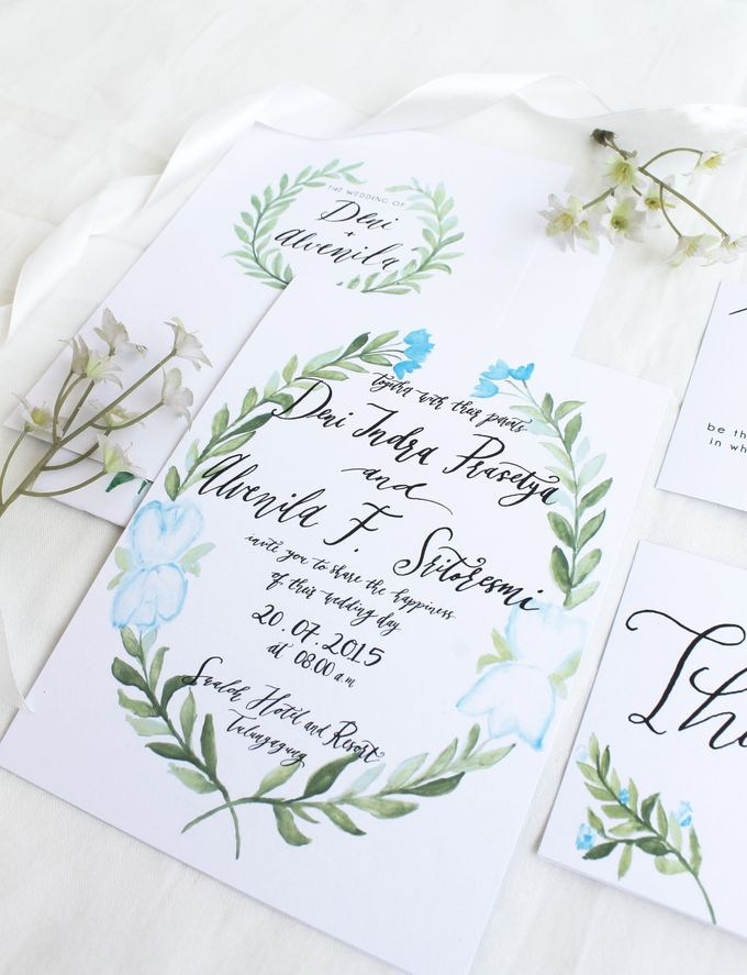 Deni & Alvenila Wedding Invitation by Meilifluous Calligraphy & Design - 010