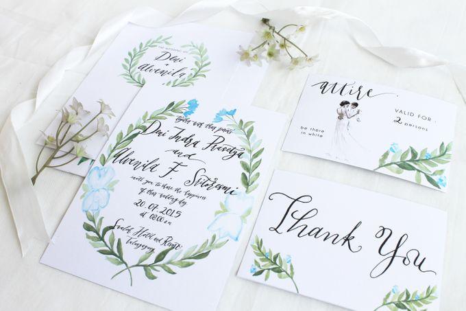 Deni & Alvenila Wedding Invitation by Meilifluous Calligraphy & Design - 011