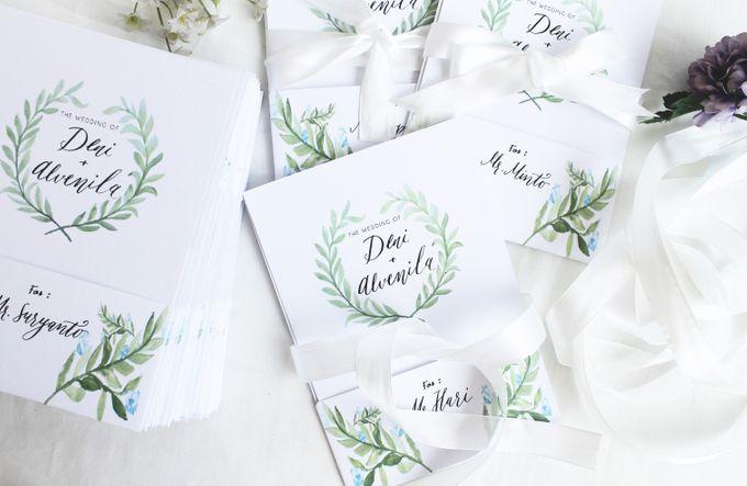Deni & Alvenila Wedding Invitation by Meilifluous Calligraphy & Design - 012