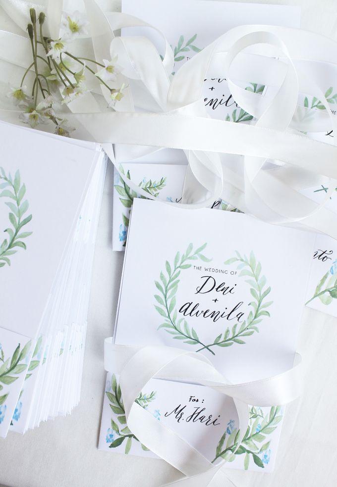 Deni & Alvenila Wedding Invitation by Meilifluous Calligraphy & Design - 013