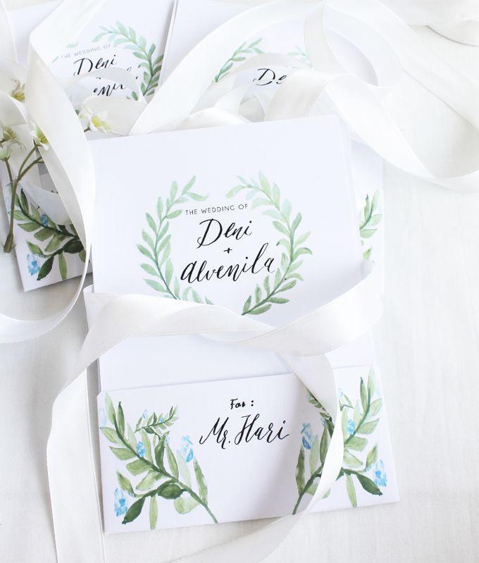 Deni & Alvenila Wedding Invitation by Meilifluous Calligraphy & Design - 014
