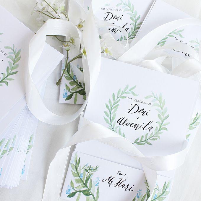 Deni & Alvenila Wedding Invitation by Meilifluous Calligraphy & Design - 015