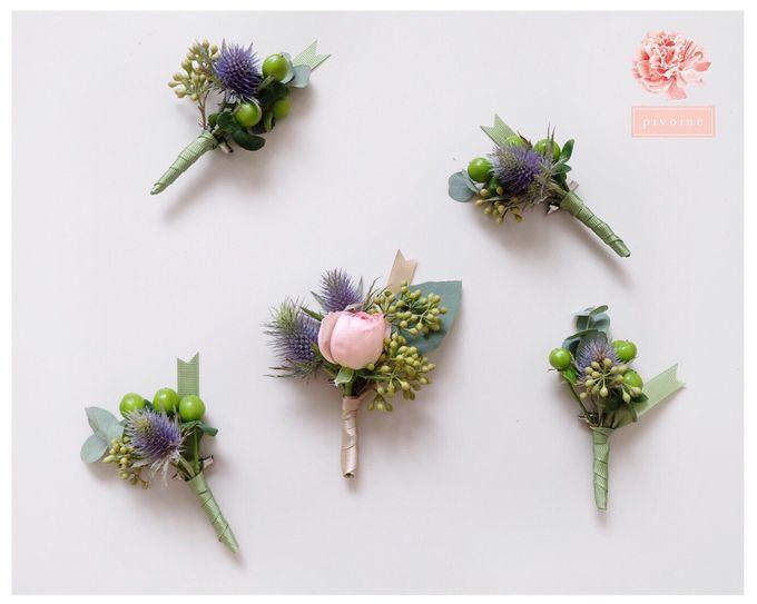boutonniere by Pivoine Flower Shop - 003