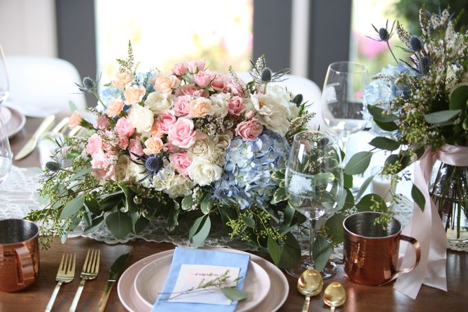 Styled Shoot - Rose Quartz & Serenity by Fleurish Floral Design - 004