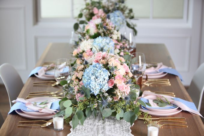 Styled Shoot - Rose Quartz & Serenity by Fleurish Floral Design - 001