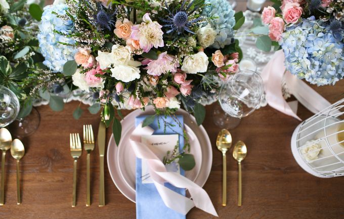 Styled Shoot - Rose Quartz & Serenity by Fleurish Floral Design - 005