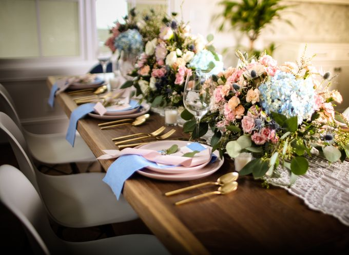 Styled Shoot - Rose Quartz & Serenity by Fleurish Floral Design - 002