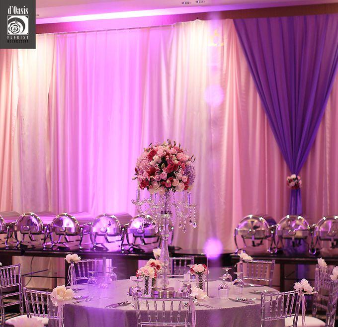 Wedding Pink & Purple Very Romantic by d'Oasis Florist & Decoration - 006