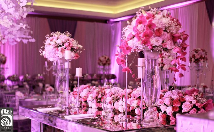 Wedding Pink & Purple Very Romantic by d'Oasis Florist & Decoration - 009