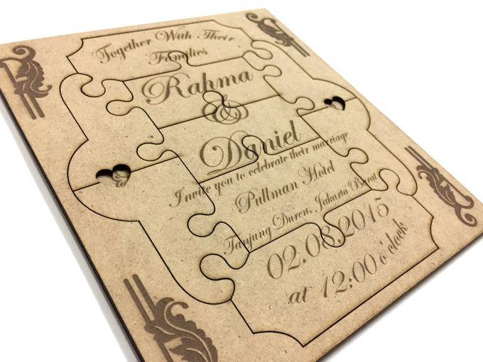 Puzzle Wedding Invitation Card by Ravaro Design - 001