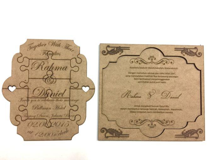 Puzzle Wedding Invitation Card by Ravaro Design - 003