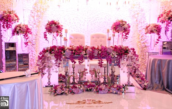Wedding Pink & Purple Very Romantic by d'Oasis Florist & Decoration - 010