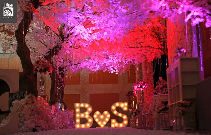 Wedding Pink & Purple Very Romantic by d'Oasis Florist & Decoration - 002