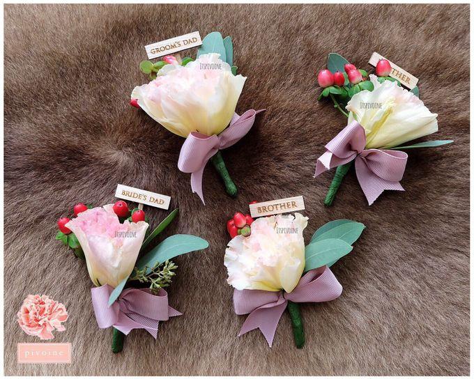 boutonniere by Pivoine Flower Shop - 012