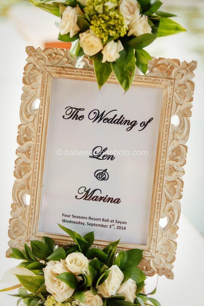 Simple Wedding Len & Marina by D'studio Photography Bali - 002