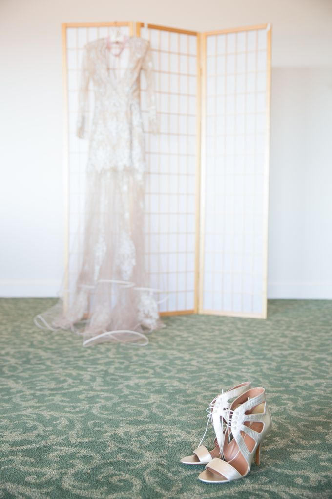 Fashion forward couple's destination wedding at The Montecito Country club in Santa Barbara, California by Kiel Rucker Photography - 006