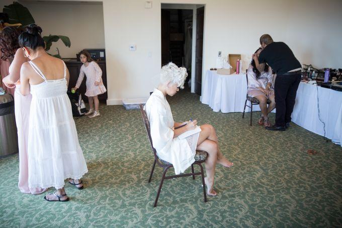 Fashion forward couple's destination wedding at The Montecito Country club in Santa Barbara, California by Kiel Rucker Photography - 007