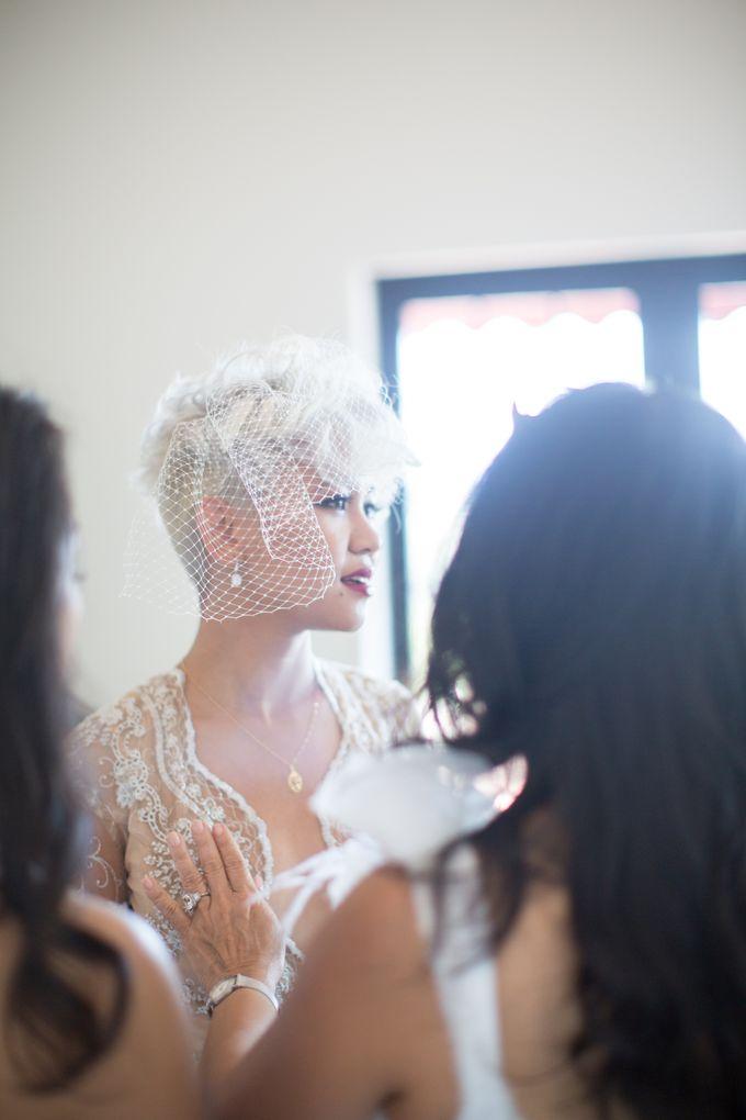 Fashion forward couple's destination wedding at The Montecito Country club in Santa Barbara, California by Kiel Rucker Photography - 013