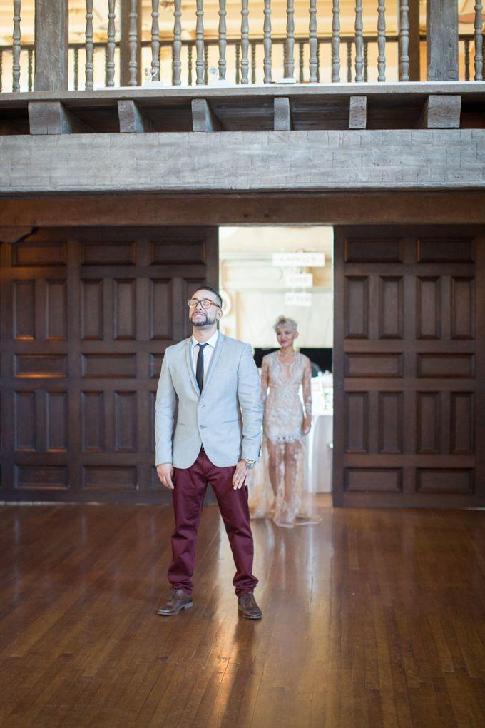 Fashion forward couple's destination wedding at The Montecito Country club in Santa Barbara, California by Kiel Rucker Photography - 017