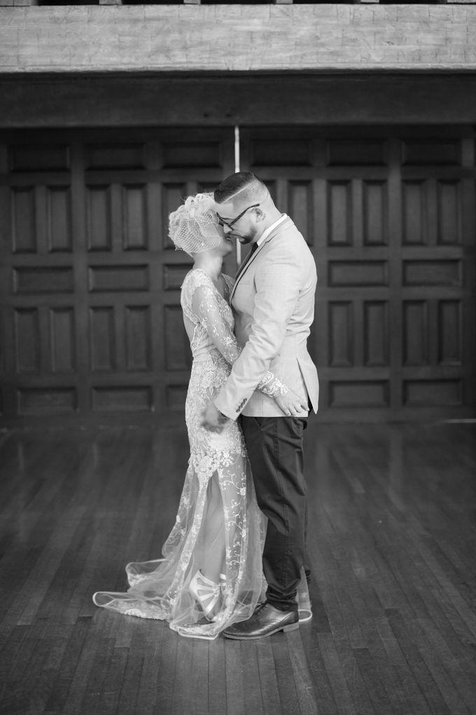 Fashion forward couple's destination wedding at The Montecito Country club in Santa Barbara, California by Kiel Rucker Photography - 020