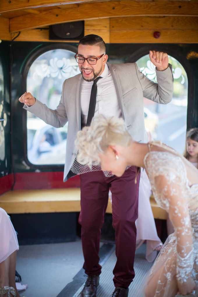 Fashion forward couple's destination wedding at The Montecito Country club in Santa Barbara, California by Kiel Rucker Photography - 022