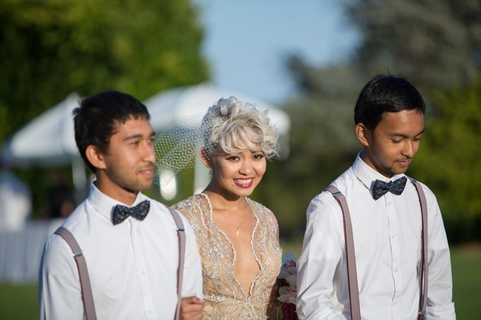 Fashion forward couple's destination wedding at The Montecito Country club in Santa Barbara, California by Kiel Rucker Photography - 026