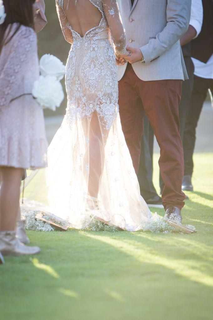 Fashion forward couple's destination wedding at The Montecito Country club in Santa Barbara, California by Kiel Rucker Photography - 029