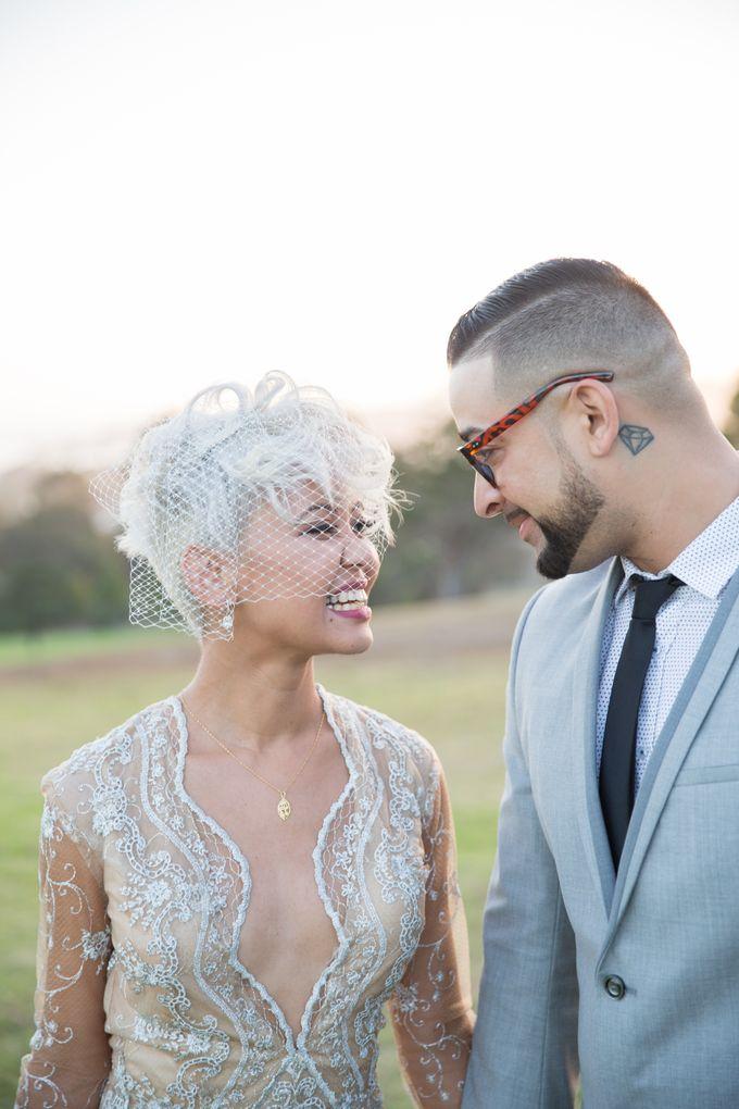 Fashion forward couple's destination wedding at The Montecito Country club in Santa Barbara, California by Kiel Rucker Photography - 030
