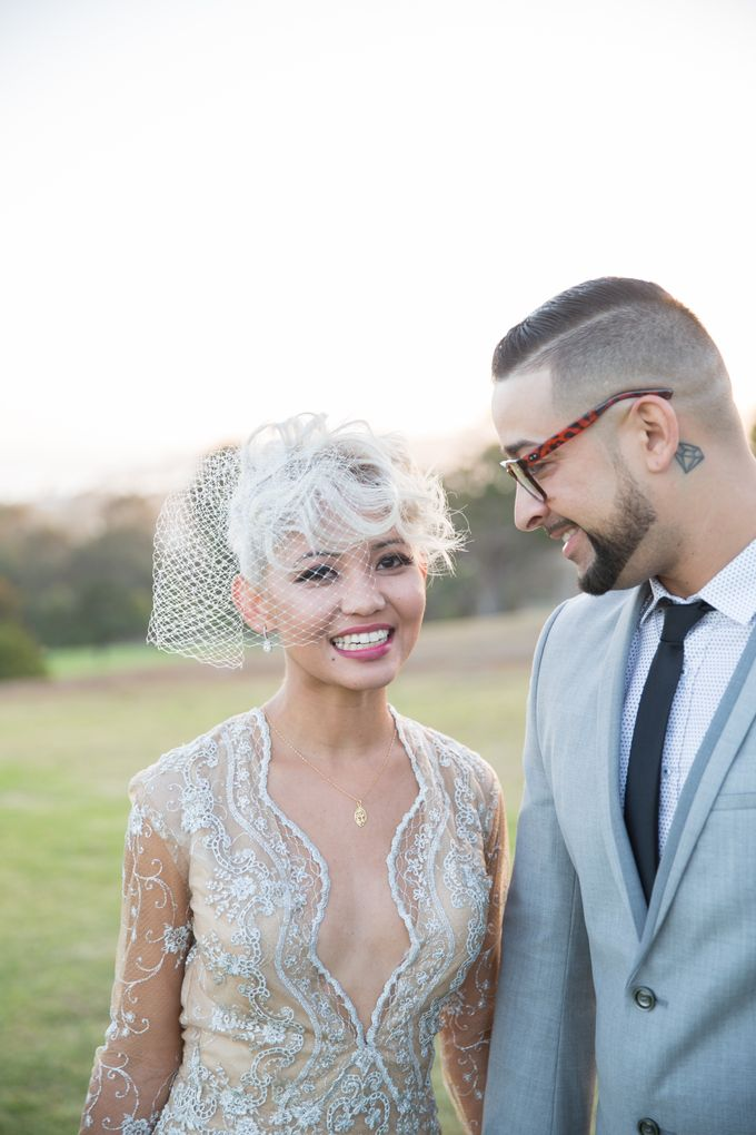 Fashion forward couple's destination wedding at The Montecito Country club in Santa Barbara, California by Kiel Rucker Photography - 031