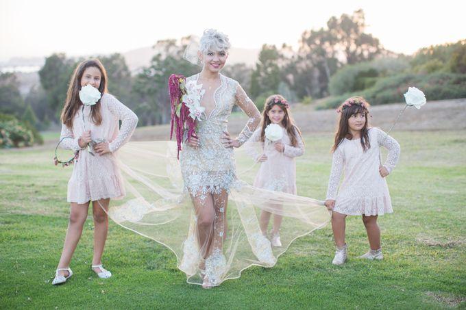 Fashion forward couple's destination wedding at The Montecito Country club in Santa Barbara, California by Kiel Rucker Photography - 032