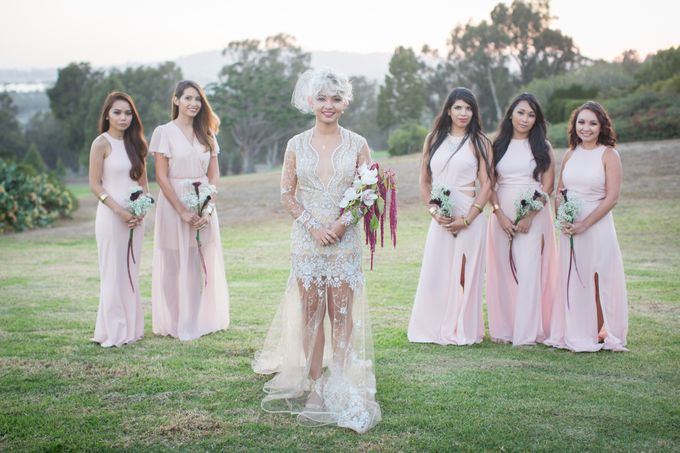 Fashion forward couple's destination wedding at The Montecito Country club in Santa Barbara, California by Kiel Rucker Photography - 034