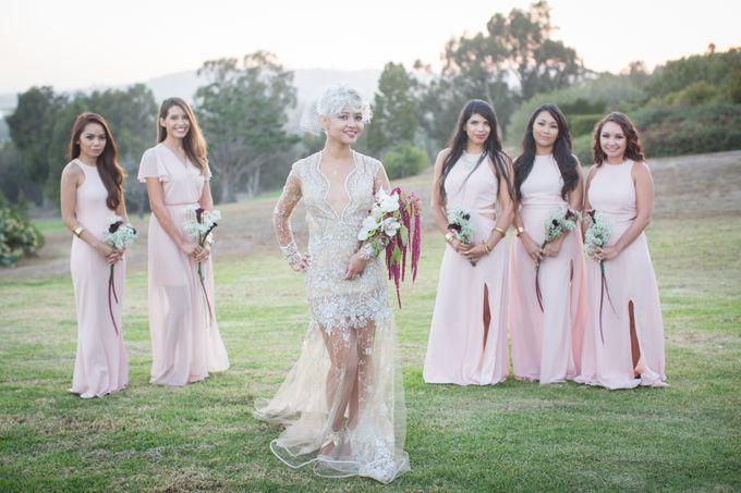 Fashion forward couple's destination wedding at The Montecito Country club in Santa Barbara, California by Kiel Rucker Photography - 035