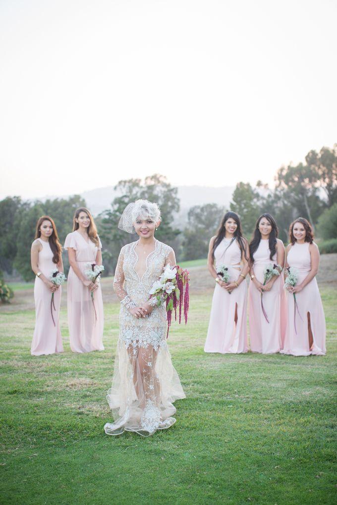Fashion forward couple's destination wedding at The Montecito Country club in Santa Barbara, California by Kiel Rucker Photography - 036