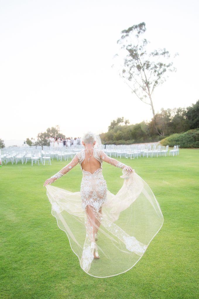 Fashion forward couple's destination wedding at The Montecito Country club in Santa Barbara, California by Kiel Rucker Photography - 040