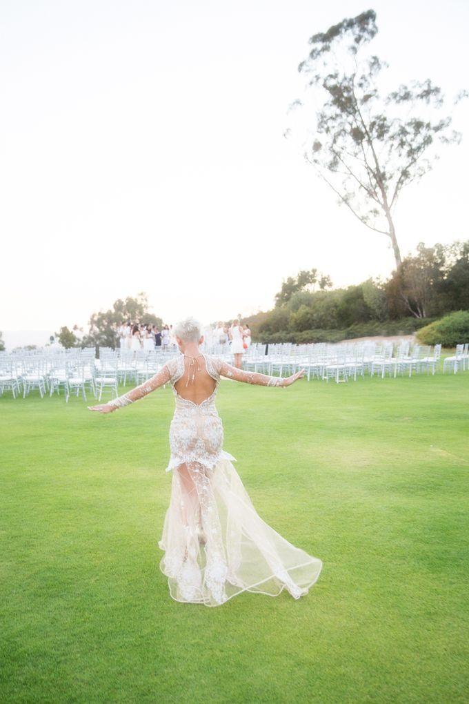 Fashion forward couple's destination wedding at The Montecito Country club in Santa Barbara, California by Kiel Rucker Photography - 041